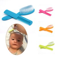 Wholesale Infant Safety Set - Wholesale- 2Pcs Baby Safety Soft Hair Brush Set Infant Comb Grooming Shower Design Pack