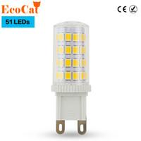 Wholesale Led Lights G9 Price - Wholesale- ECO Cat Low price G9 LED 7W G9 LED Corn Light 2835 Replace 50W Halogen Lamp Led bulb spotlight Crystal lamp for Chandelier