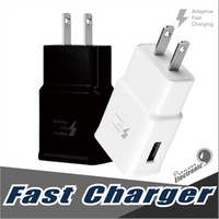 Wholesale Plug Adapter For Uk - Fast Charger QC 2.0 5v 2A Adapter Fast USB Wall Charger UK EU US Plug Travel Universal For Galaxy S8 S7 Edge S6 S6 Edge