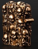 Wholesale Handmade Copper Carvings - Wholesale- Wholesale lighter brand liner Hand-carved relief 6.1*4.8*2.5cm copper handmade H.R.Giger baby lighter