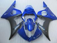 juegos de carenado r6 al por mayor-Kit de carenado de plástico para carrocería YAMAHA R6 2003 2004 2005 carenados de azul negro YZF R6 03 04 05 IY11