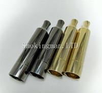 Wholesale Gun Rods - DHL Gold Gun Black T3 Metal wax Vaporizer straight tube Dual Quartz Ceramic Rod replacement Coils VS ego D Skillet Globe Cannon Atomizer