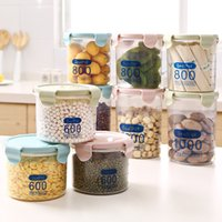 Wholesale Plastic Sealed Canister - 3pcs mixed color Plastic Food Storage Container Fridge Organizer Seal Transparent with Scale Storge Box Canister Crops Beans Snacks 3 Size
