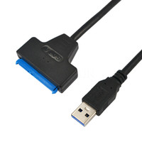 """Wholesale usb hdd drivers - Wholesale- New 25CM USB 3.0 to Sata 2 5"""" 3.5"""" 2.5 3.5 inch 7+15pin Cable HDD SSD Hard Disk Driver Adapter Converter for Computer PC"""