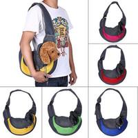 Wholesale Shoulder Cat Dog - Pet Dog Cat Puppy Front Carrier Mesh Comfort Travel Tote Shoulder Bag Sling Backpack Comfortable Dog Carrier Backpack YYA433