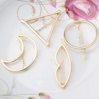 Wholesale Hair Pin Brand - 2016 New Brand Hairpins Triangle Moon Hair Pin Jewelry Lip Round Hair Clip For Women Barrettes Head Accessories Bijoux De Tete