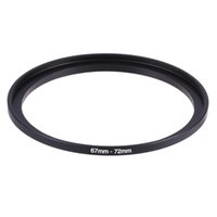 Wholesale Step Up Ring 72mm - Wholesale- 67-72mm 67mm-72mm 67 to 72 Metal Step Up Lens Filter Ring Stepping Adapter Black Color