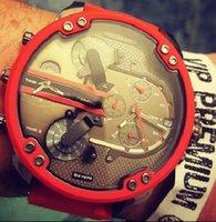 Wholesale Dz Watch Box - DZ 57MM large dial 7370 fashion men's watches + original box + manual