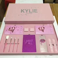 Wholesale Wholesale Full Makeup Brushes Set - new Kylie Jenner Cosmetics 4pcs pink Set I Want It All Birthday Collection Limited Edition Makeup Brushes High Quality.
