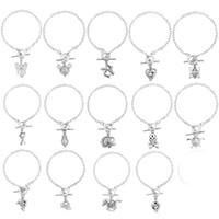 Wholesale Butterfly Locket Bracelet - Women'S Pearl Cage Charm Bracelets With Oyster Pearl Beads Fashion Butterfly Elephant Dolphins Locket Bracelet Jewelry