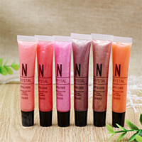 Wholesale nude pink lip color resale online - 60pcs NANI Pearl Lip Gloss Women Lasting Waterproof Glitter Lipstick Pink Orange Nude Color Lipgloss Cosmetic Makeup DHL