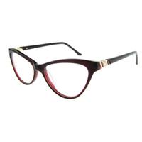 Wholesale Vintage Cat Art - New thin Frames Design Young Plain Glass Cute Art Stylish Cat Eye Shape Vintage Optical Eyeglasses