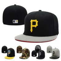 Wholesale Wholesale Pittsburgh Pirates - MLB Hat Embroidered Pittsburgh Pirates Baseball Cap Fitted Cap for Men Designer Women Hat with Sun Protection Away Sweat Valentine Gift DHL