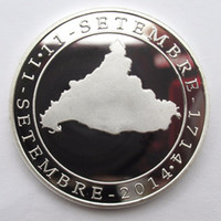 Wholesale People Maps - Catalonia Map Silver Plate Commemorative Coin European Coin Metal Craft