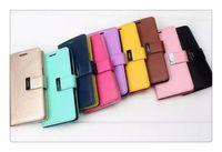 кожаные футляры для дневника оптовых-Mercury Rich Diary Бумажник PU кожаный чехол с 2 слотами для карт Боковой карман ТПУ Чехол для iPhone 5 5S 6 Plus Samsung Galaxy S6 Edge S5 Note 4