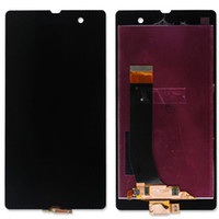Wholesale Touch Screen Digitizer L36h - High Quality New Tested LCD Display With Touch Screen Digitizer Replacement For SONY Z Z1 L36h LT36i C6602 C6603