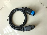 Wholesale Volvo Pin Connector - 2016 high quality OBDII Adapter obd cable 16 pin to 16pin adapter connector obd2 diagnostic cable