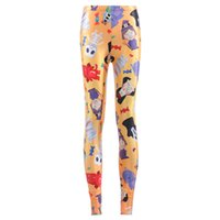Wholesale sexy girls yoga pants online - 2017 NEW Christmas Cartoon Skull witch Candy Prints Sexy Girl Pencil Yoga Pants GYM Fitness Workout Polyester Women Leggings Plus Size