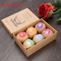 Wholesale Bath Set Packed - 2017 ACE VIVI Organic Bath Salt Bombs Skin Care Oil Sea Salt Handmade Bath Bombs Set Pack of 6 Body Cleaner SPA valentine's day Gift b1121