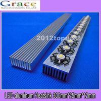 Wholesale Heatsink For Power Led - Wholesale-2pcs High Power LED aluminum Heatsink 300mm*25mm*12mm for 1W,3W,5W led emitter diodes