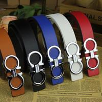 cinturón de cuero artificial al por mayor-2017 Nueva Llegada Estilo de Corea Alta Calidad Vendedor Caliente Diseñador de Moda Marca Cinturón de Cuero de Imitación para Mujer Hombre