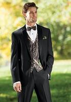 Wholesale S4 Piece - 2017 New Camouflage Tuxedos Unique One Button Camo Mens Wedding Suits Notched Lapel Groom Wear Prom Suits For Men(Jacket+Pant+Vest+Bowtie)s4