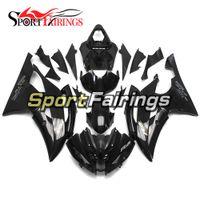 conjunto de plástico yamaha r6 venda por atacado-Carenagens de injeção de ABS de plástico preto brilhante completo para Yamaha YZF600 R6 2008-2016 ano 08-16 capuzes motocicleta Bodykit painéis novos quadros conjunto