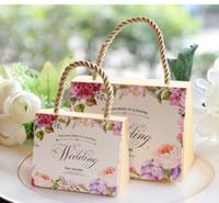 düğün hediye çantası kutuları toptan satış-Taşınabilir Kağıt Çanta Takı Düğün Parti Hediye Çanta Şekerleri Şekerler Kılıfı Sahipleri Kutuları Poşet Yıldönümü Doğum Günü Duş Olay Parti Aralık
