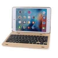 ipad fall gold großhandel-Kabellose Bluetooth Tastatur F1 + Ultra Slim Clamshell Leichte Tastatur Tasche für iPad Mini 4 (Gold)