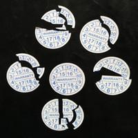 ingrosso etichetta di spedizione personalizzata-stampa personalizzata Adesivo etichetta di tenuta in garanzia nullo se etichetta di garanzia manomessa diametro 10mm spedizione gratuita