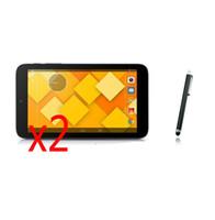 net dokunmatik ekran filmi toptan satış-Toptan Satış - 3in1 2x Clear LCD Ekran Koruyucu Filmler Koruyucu Film Muhafızları + Alcatel One Touch Pixi 3 1 Için Stylus Kalem 3 7.0 9002X 7