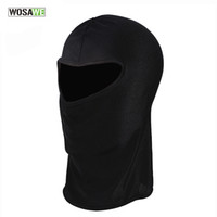 Wholesale Uv Headwear - WOSAWE Ultra Thin Ski CS Face Mask Hood Helmet Balaclava Hat Headwear For Motor Bike Anti UV Quick Dry Cycling Cap BC300