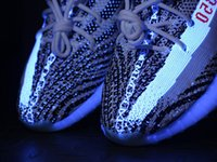 Wholesale Glowing Uv - Boost 350 v2 Zebra White UV Glowing Shoes, 350 V2 Zebra sneakers Runners ,Boost 350 V2 Zebra White Red For Sale All Sizes
