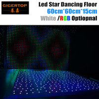 Wholesale Led Stage Lighting Panel - Ex-works Price 60cm x 60cm LED White Acrylic Panel Dancing Dance Floor Remote Control Stage Light KTV Bar Party Disco DJ Club LED effect
