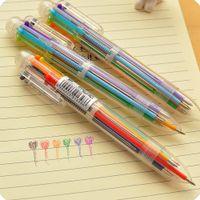 Wholesale Wholesale Sand Toys - Wholesale- Creative Stationery Multi-Color Ballpoint Pen Six-color Ballpoint Pen Study Pens School Supplies Drawing Toys