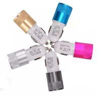 Wholesale Iphone Charger Usb Data - Best Metal Dual USB Car Chargers Aluminum Material Universal Dual USB Charging Data Cable For Galaxy Car Chargers Cables Samsung LG Sony HTC