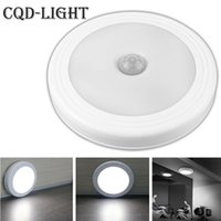 Wholesale Led Hallway Night Light - Wholesale- Wall Lights Magnetic Infrared IR Bright Motion Sensor Activated LED Night Light Auto On Off Battery Operated for Hallway Pathway