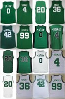 Wholesale 99 Free - New arrive #20 Hayward #7 brown #42 horford #4 Thomas #0 Tatum #36 Smart #99 Crowder Jerseys Sportswear Jersey S-3XL 44-56 free shippin