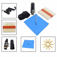 For Saxophone as pic M682 Wholesale- Professional Clarinet Accessories Kit Set Containing Mouthpiece+Belt+Clarinet Cloth+Bamboo Reed+Screwdriver Free Shipping