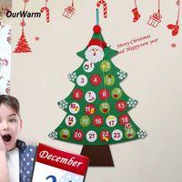 nouveautés produits achat en gros de-Ourwarm Felt Noël Calendrier de l'avent Nouvel An Produits Hanging Noël Compte à rebours Calendrier Décorations de Noël pour la nouveauté