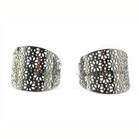 Wholesale China Led Earrings - Fashion Women 316l Stainless Steel Stud Earrings Hollow Out Drop African Bijoux Nickel Lead Free Jewelry Gift Silver Earrings