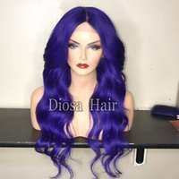 Wholesale Blue Swiss Lace - New Arrival Best Lace Wigs Glueless Blue Human Hair Wig With Pre-plucked Hairline Blue Brazilian Lace Front Wig Virgin Hair