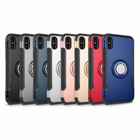 Holder Titular do carro magnético Shockproof Armor Case Cover para iPhone X 8 7 Plus Samsung Galaxy Note 8 DHL grátis