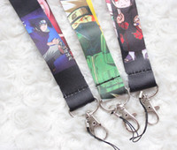 Wholesale Mobile Phone Animations - Hot sale wholesale 1000pcs cartoon animation characters mobile phone lanyard fashion keys rope exquisite neck rope card rope free shipping