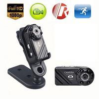 Wholesale Mini Video Camera Night Motion - Mini DV Spy Hidden Video Camera 4 leds night vision Sports DV Motion Detection 1080P Full HD Mini camera mini Camcorder Digital Camera