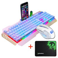 Wired LED Backlit Multimedia Ergonomic Usb Gaming Teclado Mouse Combo iluminado 2000DPI Optical Gamer Mouse Sets + Mouse Pad