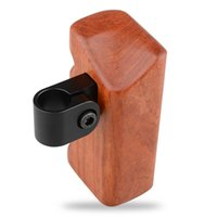 Wholesale camera handle grip for sale - Group buy CAMVATE Wood Wooden Handle Grip Mount Right hand