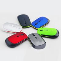 laptops vendem venda por atacado-2017 ultrathin usb mouse óptico sem fio 2.4 ghz usb receiver para computador pc laptop desktop 3500 venda quente ratos 8 cores com air bag