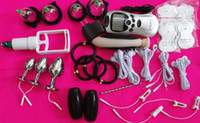 BDSM Electric Shock Electrosex Männlich Bondage Gear Electro Pulse Shock Therapie Gerät Urethral Penis Stecker Cock Ring Butt Anal Plug