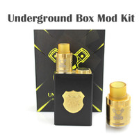 Wholesale Underground Box - Top Underground Box Mod Kit Mech Mod Gold Black Colors Fit 18650 Battery 510 Thread Fit 510 RDA Atomizer Mechanical Mod E-cigarette Kits